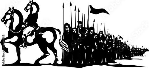 Fotografía Horse Army March
