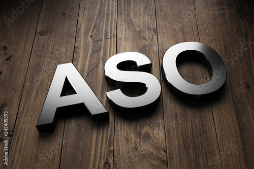 Dimensional ASO sign on wood with copy space Canvas Print
