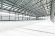 Interior of empty warehouse