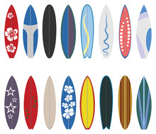 Surfboard Collection. Flat Des...