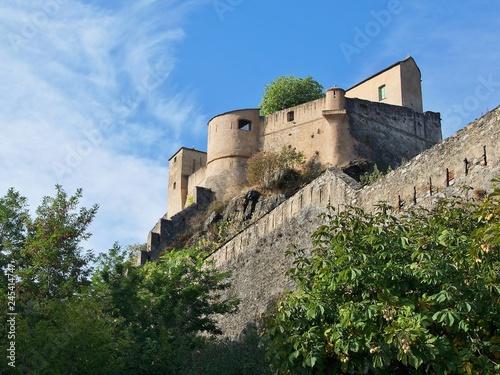 Fotografie, Obraz  Corsica-a view of the citadel in Corte