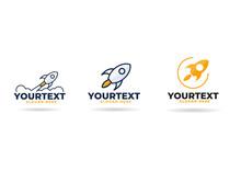 Rocket Logo,  Icon Or Sign. Flat Vector
