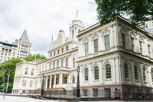 Foto New York City Hall in Manhattan in New York City, USA