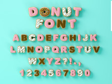 Donuts Decorative Font Glazed ...