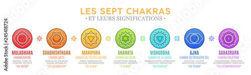 Les Sept Chakras et leurs significations Canvas Print