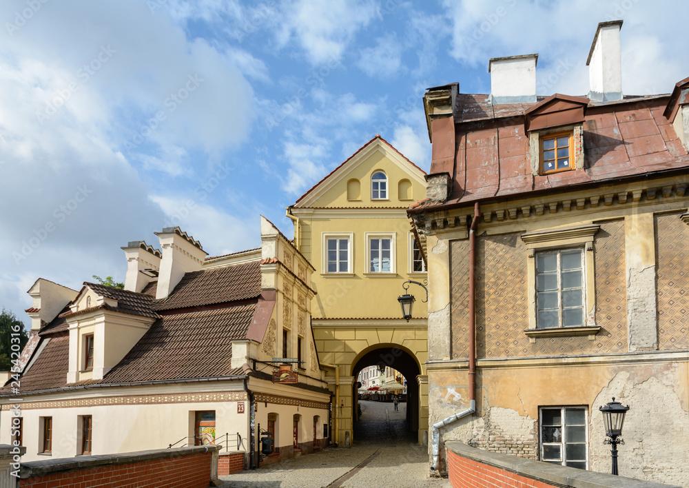 Fototapety, obrazy: Lublin, Stare miasto z domami w stylu renesansu lubelskiego