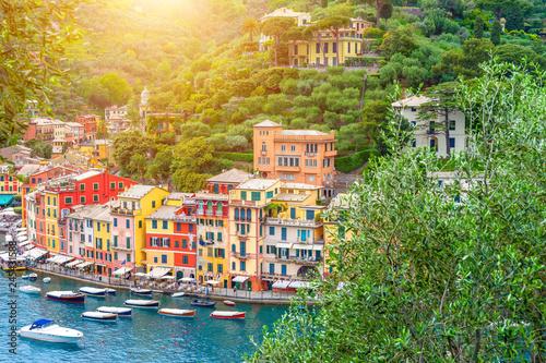 Fotobehang Liguria Landscape Portofino, Liguria, Italy