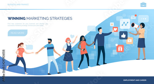 Photo Winning customers with marketing strategies