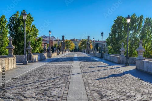 Bridge of Toledo (Puente de Toledo) in Madrid, Spain Canvas Print