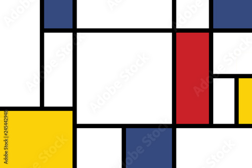 Photo  colorful rectangles; mondrian style;