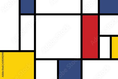 Valokuva  colorful rectangles; mondrian style;