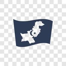 Pakistan Flag Icon Vector