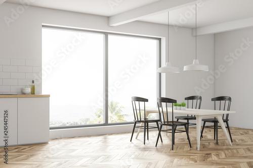 Fotomural  White dining room corner