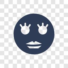 Shy Emoji Icon Vector