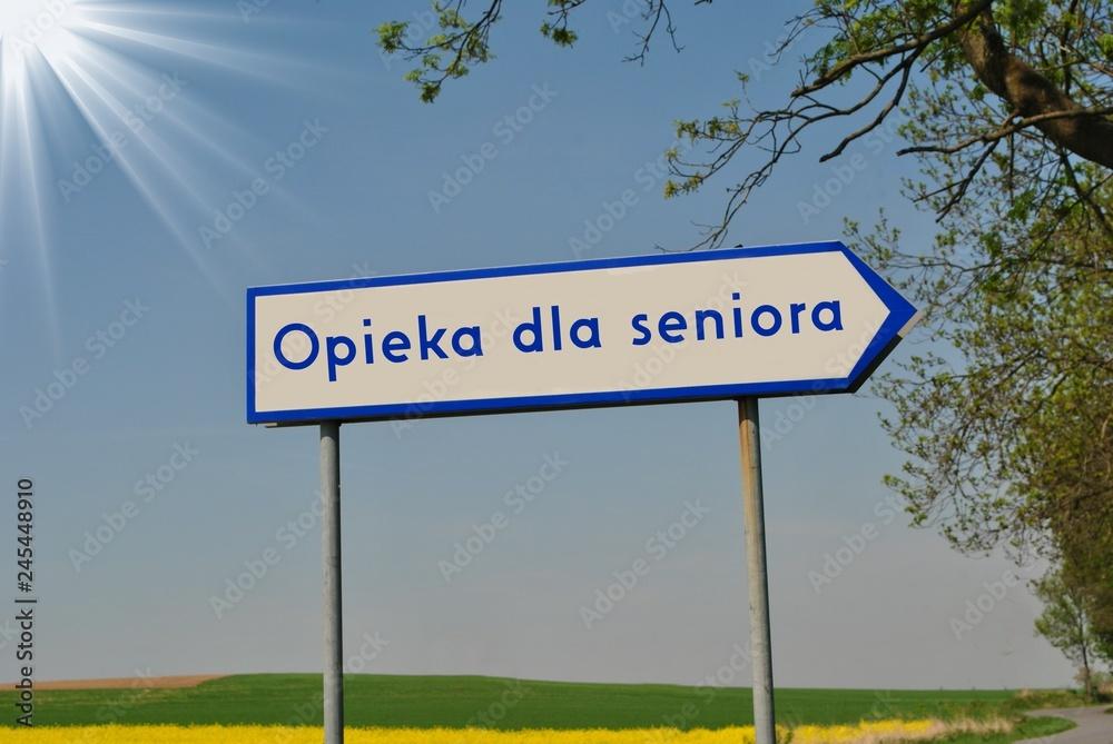 Fototapeta Opieka dla seniora
