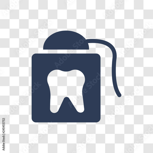 Photo  flossing icon vector
