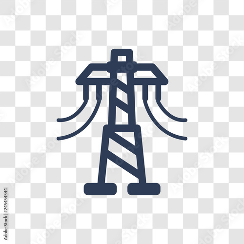 Valokuva  Transmission tower icon vector