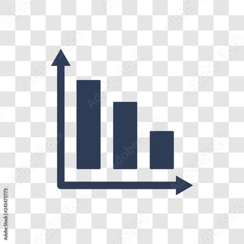 Fotografía  Bar Graph icon vector