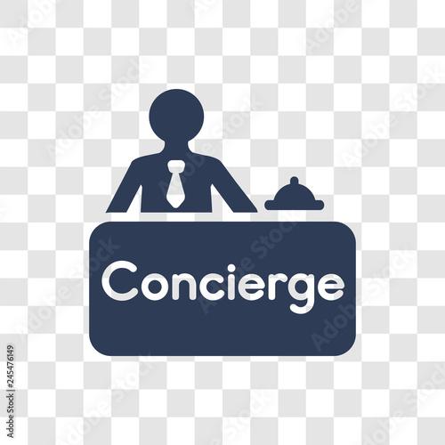 Obraz na plátně Concierge icon vector