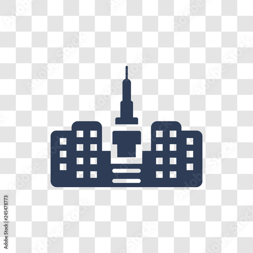 Photo  Empire state building icon vector
