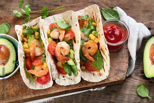 Tortilla Shrimps tacos