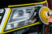Car Headlights With Power Buff...