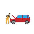 Car repair vector graphics