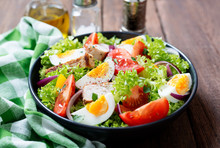 Fresh Vegetable Salad With Chi...