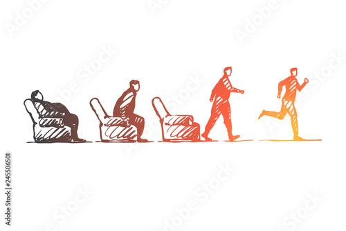Fotomural  Motivation, startup, sport, fitness, run concept