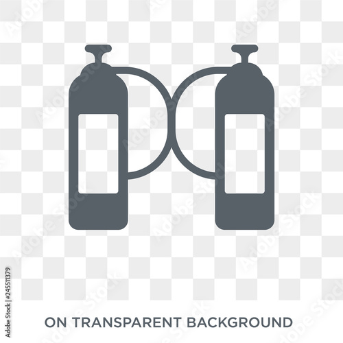 oxygen tank icon trendy flat vector oxygen tank icon on transparent background from nautical collection high quality filled oxygen tank symbol use for web and mobile buy this stock vector and adobe stock