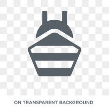Ballast Icon. Trendy Flat Vector Ballast Icon On Transparent Background From Nautical Collection. High Quality Filled Ballast Symbol Use For Web And Mobile