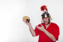A Roman Soldier With A Human S...