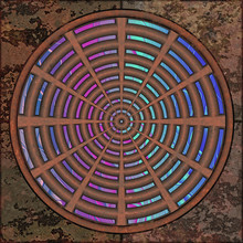 3d Effekt - Abstrakt Kreise Ringe Segmente Muster