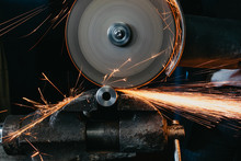 Sparks From Cutting Metal With...