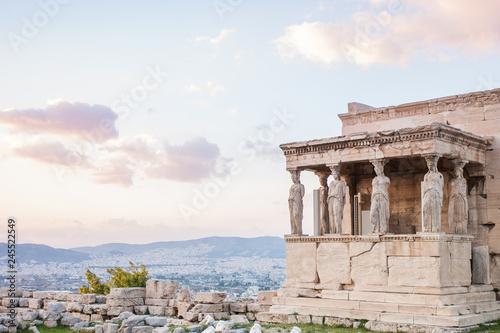 Photo Detail of Erechtheion in Acropolis of Athens, Greece