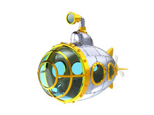 Cartoon Metal Submarine