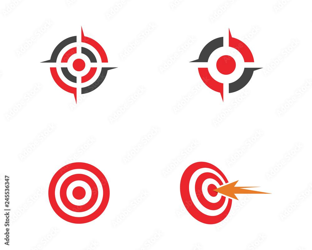 Fototapeta Target icon vector illustration