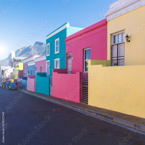 Bo Kaap district colorful houses in Cape Town, South Africa Wallpaper Mural