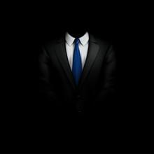 Black Suit With Tie