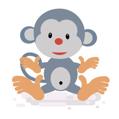 Słodki karton małp