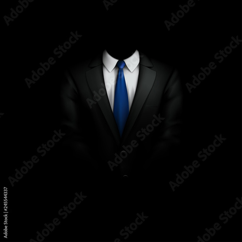 Fotografia black suit with tie