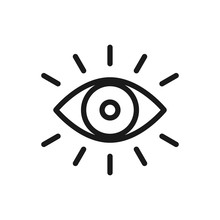 Eye Icon Thin Line For Web And...