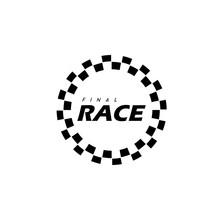 Simple Design Race Flag Logo T...