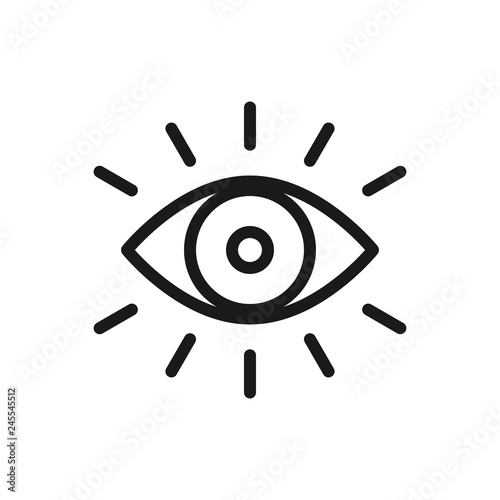 Eye icon thin line for web and mobile, modern minimalistic flat design Canvas Print
