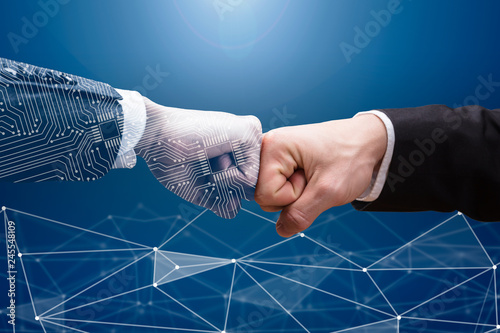 Photo  Two Businesspeople Making Fist Bump