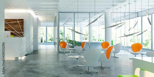 Spoed Foto op Canvas Stad gebouw Modern office interior
