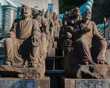 Small Japanese Monk Statues