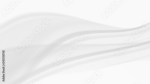Fotobehang Fractal waves Vector EPS10 with transparency. Abstract composition, curve lines with copy space. Lines with illusion of blur effect. Place for text. Background for presentation. Digitally wallpaper. 16 : 9