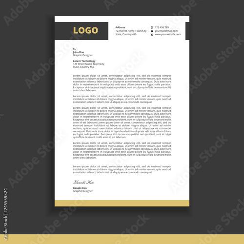 Fototapeta letterhead design template vector obraz