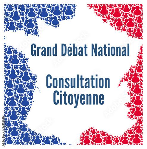 Fotografía  Grand débat national et consultation citoyenne